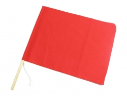 Red flag with wooden pattern 300 × 400